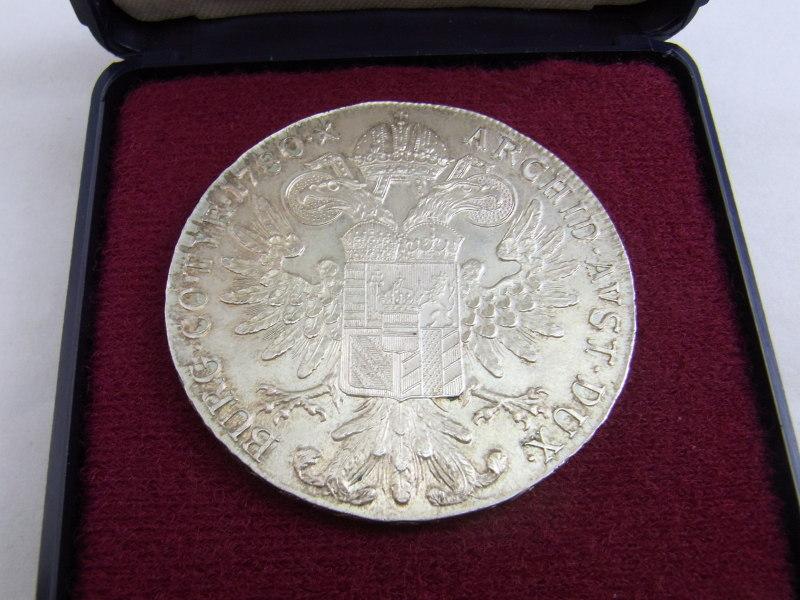 銀貨買取 マリア・テレージア(オーストリア女大公)のターレル銀貨 さいたま市おたからや岩槻店